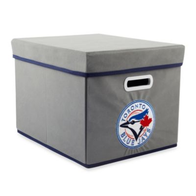 MLB Toronto Blue Jays Fabric Storage Cube with Cover