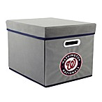 MLB Washington Nationals Fabric Storage Cube with Cover
