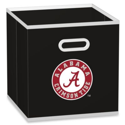 NCAA Alabama Crimson Tide Fabric Storage Drawer in Black