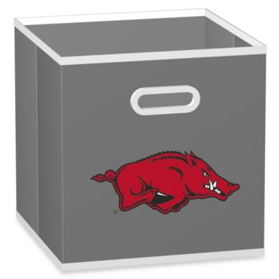 University of Arkansas Fabric Storage Drawer in Grey
