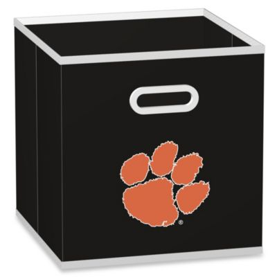 Clemson University Fabric Storage Drawer in Black