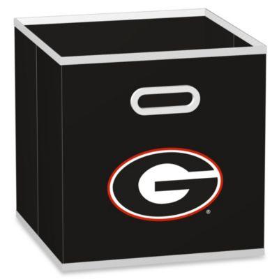 University of Georgia Fabric Storage Drawer in Black