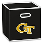 NCAA Georgia Tech Fabric Storage Drawer in Black