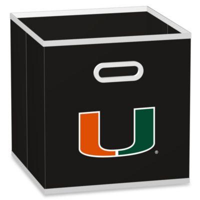 University of Miami Fabric Storage Drawer in Black