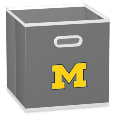 NCAA University of Michigan Fabric Storage Drawer in Grey