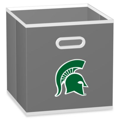 NCAA Michigan State University Fabric Storage Drawer in Grey