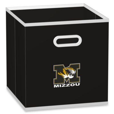 University of Missouri Fabric Storage Drawer in Black