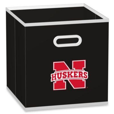 University of Nebraska Fabric Storage Drawer in Black