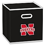 NCAA University of Nebraska Fabric Storage Drawer in Black