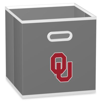 NCAA University of Oklahoma Fabric Storage Drawer in Grey