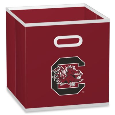 University of South Carolina Fabric Storage Drawer in Red