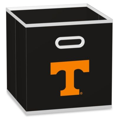 NCAA University of Tennessee Fabric Storage Drawer in Black