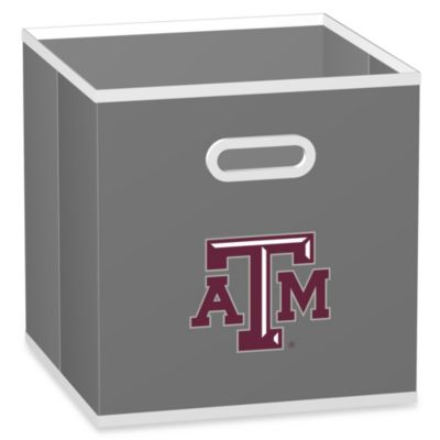 Texas A&M University Fabric Storage Drawer in Grey