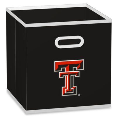 Black NCAA Fabric Storage Drawer
