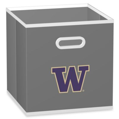 University of Washington Fabric Storage Drawer in Grey