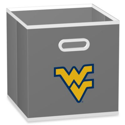 West Virginia University Fabric Storage Drawer in Grey