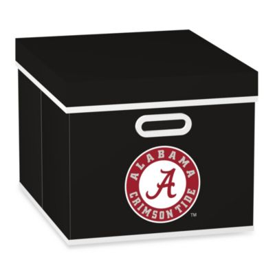 NCAA University of Alabama Storage Cube with Lid in Black