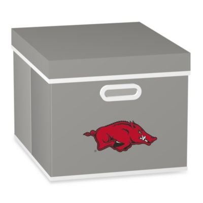 NCAA University of Arkansas Storage Cube with Cover in Black