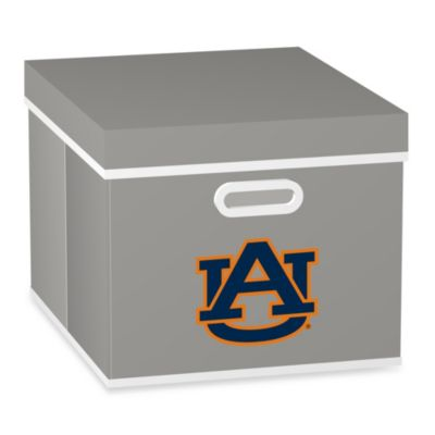 NCAA Auburn University Storage Cube with Cover in Grey