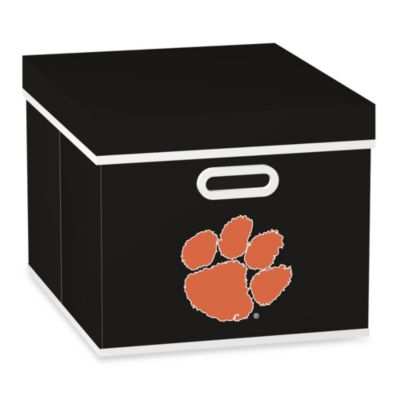 NCAA Clemson University Storage Cube with Cover in Black