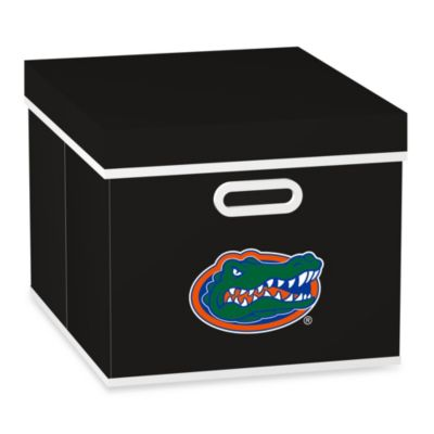 NCAA University of Florida Storage Cube with Cover in Black