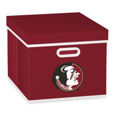 NCAA Florida State University Storage Cube with Cover in Red