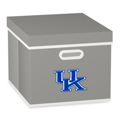 NCAA University of Kentucky Storage Cube with Cover in Grey