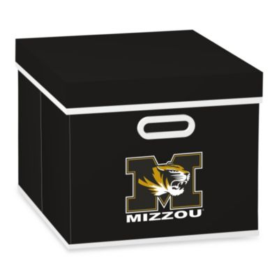 NCAA University of Missouri Storage Cube with Cover in Black