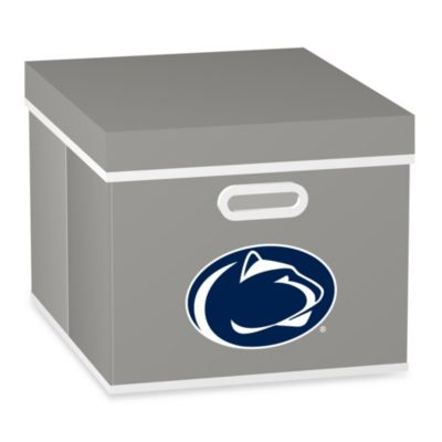 NCAA Penn State University Storage Cube with Cover in Grey