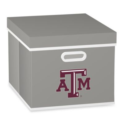 NCAA Texas A&M University Storage Cuibe with Cover in Grey
