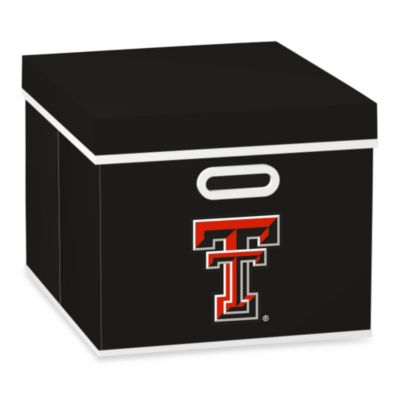 NCAA Texas Tech University Storage Cube with Cover in Black