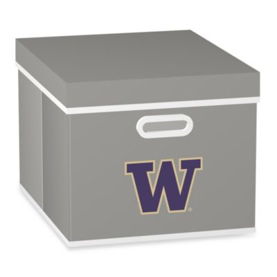 NCAA University of Washington Storage Cube with Cover in Grey