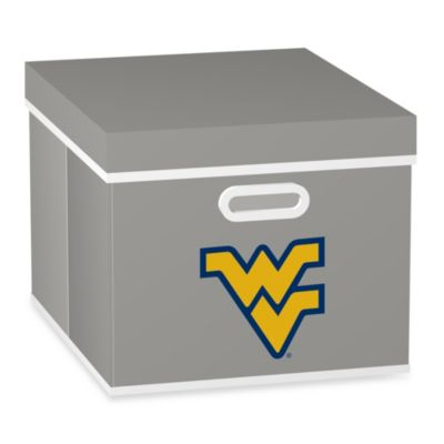 NCAA West Virginia University Storage Cube with Cover