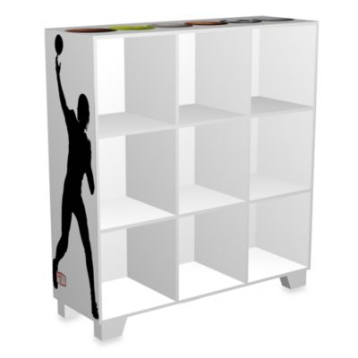 NCAA Sports 9-Cube Storage Organizer in White