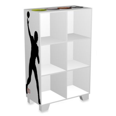 NCAA Sports 6-Cube Storage Organizer in White