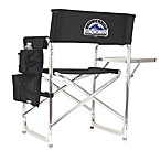 Colorado Rockies Portable Sports Chair in Black
