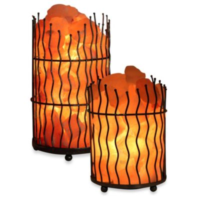 Himalayan Iconic Crystal Pillar Large Salt Basket Lamp