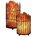 WBM® Himalayan Iconic Crystal Pillar Salt Basket Lamp