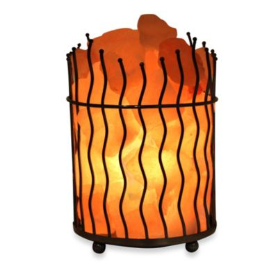 Himalayan Glow Ionic Salt Crystal Wavy Basket Lamp - Bed Bath & Beyond