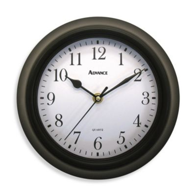 Geneva Black Plastic Wall Clock