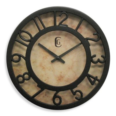 Geneva Cut-Out Numeral Clock in Brown