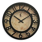 Cut-Out Numeral Clock in Brown