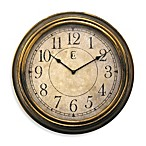 Geneva Antique Wall Clock in Gold Finish