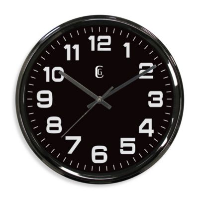 Geneva Metal Wall Clock in Gunmetal Finish