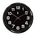Gunmetal Finish Metal Wall Clock