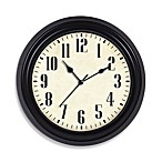 Indoor/Outdoor Wall Clock in Dark Brown