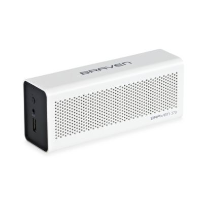 Braven 570 Bluetooth Speaker with Charger and Speakerphone in White