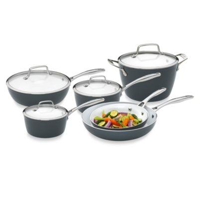 """Bialetti® Aeternum """"Fabio Viviani Signature Series"""" Ceramic 10-Piece Cookware Set"""