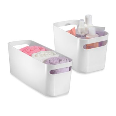 InterDesign® Una Bin Bath Storage Organizer in White