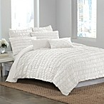 DKNY® Ruffle Wave Duvet Cover in White